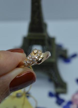 Золотое #кольцо #каблучка #обручка #камни #золота_каблучка #585 17р-р2 фото