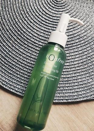 Гидрофильное масло с зеленым чаем innisfree green tea balancing cleansing oil