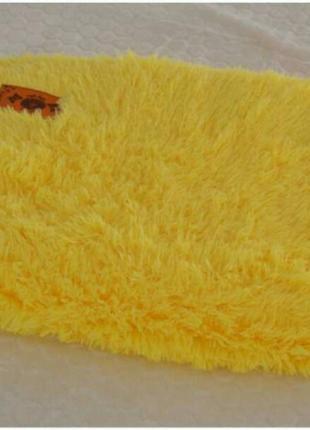 Покрывало мех травка евро размера 220х240 желтый