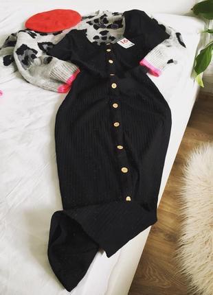 Міді сукня в рубчик з лінією гудзиків від primark