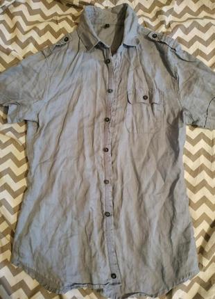 Рубашка,натуральная ткань, размер с,м