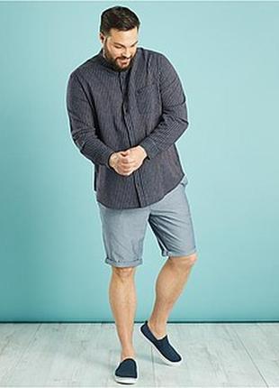 Легкая льняная мужская рубашка от kiabi, оригинал франция сток