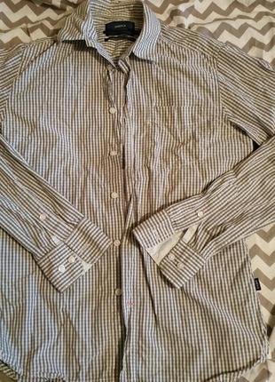 Рубашка в клетку, качество люкс, размер