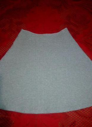 Расклешенная юбка в рубчик, в резинку.