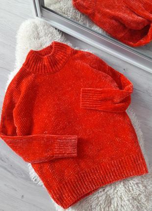 Бархатный/плюшевый свитерок из велюровой нити