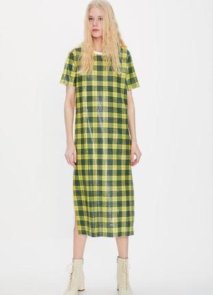 Платье в паетки zara trafaluc one size