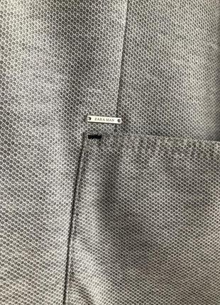 Актуальный мужской пиджак трикотаж zara2 фото