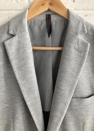 Актуальный мужской пиджак трикотаж zara4 фото