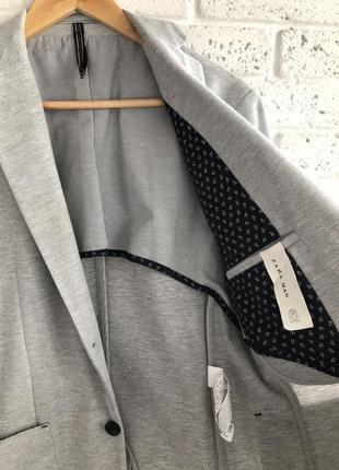 Актуальный мужской пиджак трикотаж zara5 фото