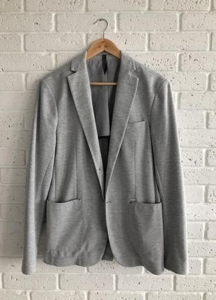 Актуальный мужской пиджак трикотаж zara6 фото