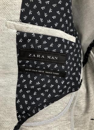 Актуальный мужской пиджак трикотаж zara7 фото