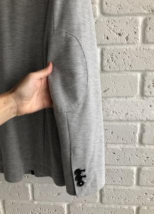 Актуальный мужской пиджак трикотаж zara10 фото