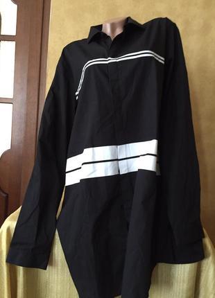 Чёрная стильная современная мужская рубашка
