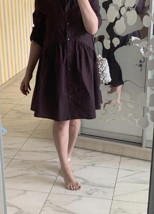 Платье поплин zara
