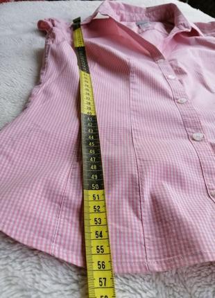 Рубашка блуза клетка короткий рукав7 фото
