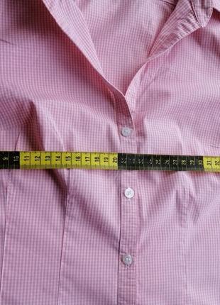 Рубашка блуза клетка короткий рукав8 фото