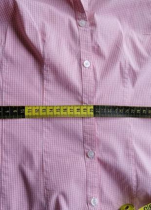 Рубашка блуза клетка короткий рукав9 фото