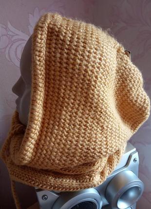 Вязаный капюшон шарф