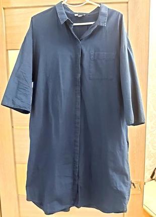 Джинсовое платье рубашка cos