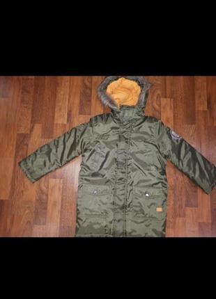 Новая зимняя удлиненная куртка b.p.s.размер 134