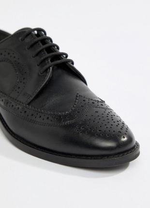 Натуральные кожаные туфли лоферы броги асос asos5 фото