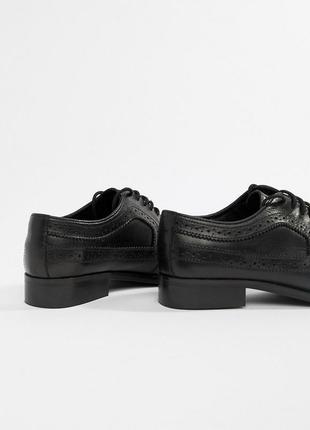 Натуральные кожаные туфли лоферы броги асос asos6 фото