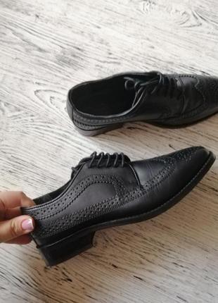 Натуральные кожаные туфли лоферы броги асос asos7 фото