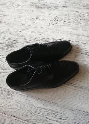 Натуральные кожаные туфли лоферы броги асос asos8 фото