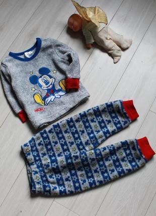 Пижама плюш disney на 6-12 мес микки1 фото