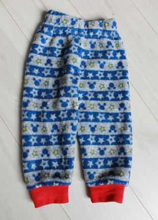 Пижама плюш disney на 6-12 мес микки3 фото