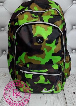 Яркий камуфляжный рюкзак салатовый