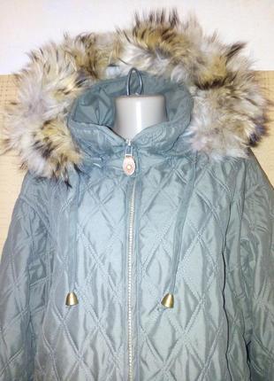 Куртка стеганная с натуральным мехом от cappuccini