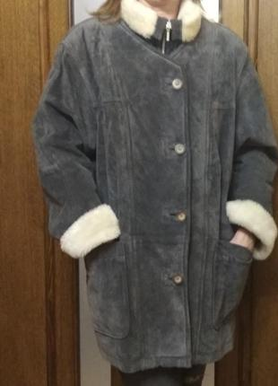 Утепленная нубуковая куртка