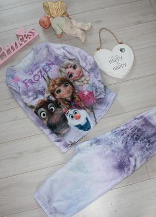 Пижама плюшевая холодное сердце на 5 лет disney