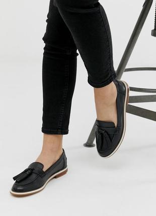 Натуральные кожаные туфли лоферы aldo