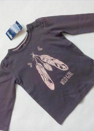 Реглан лонгслив с длинным рукавом для девочки lupilu