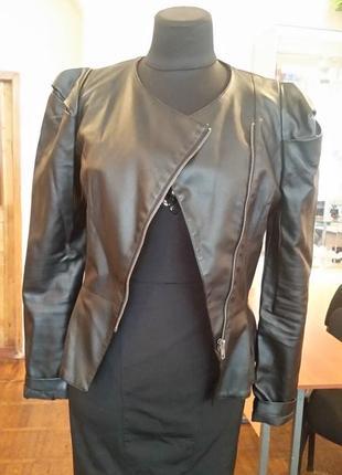 Куртка курточка кожаная косуха с баской