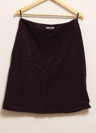 Вельветовая юбка миди