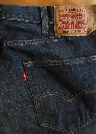 Брендові фірмові джинси levi's 501, оригінал, розмір 38/34.