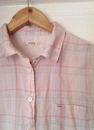 Котонова сорочка в клітинку від lee, на р. м/l