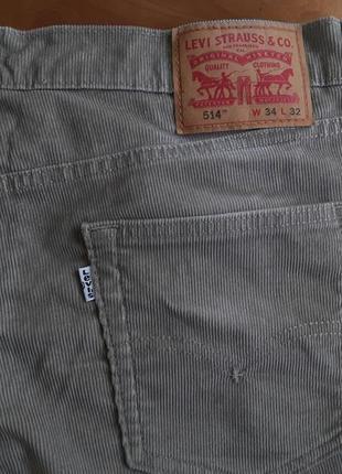 Брендові фірмові джинси штрукси levi's 514, оригінал.