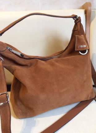Abro+ классная повседневная сумка 100% замша