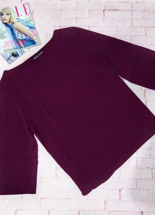 Нарядная блуза кофточка топ прямого кроя из крепа dorothy perkins
