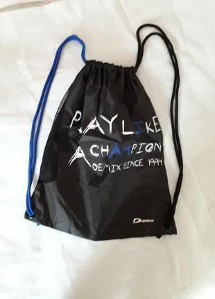 Мешок/рюкзак demix. плотная плащевая ткань, не промокает.