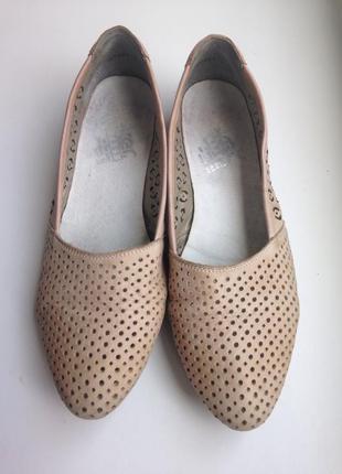 Rieker жіночі шкіряні мокасини, туфлі, лодочки/ кожа туфли, мокасины