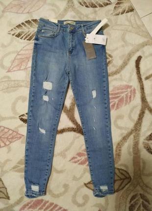 Джинсы high waist р.s.новые