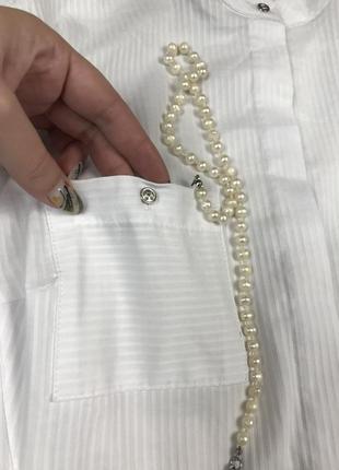 Идеальная белая базовая рубашка с интересной спинкой от next 💔4 фото