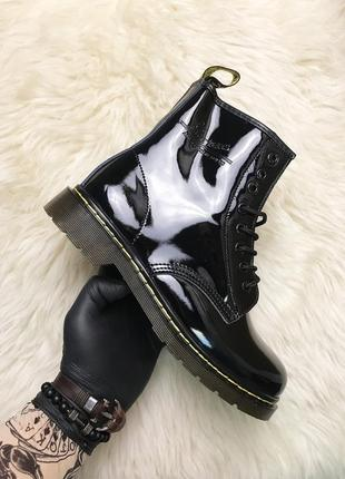 Ботинки: dr martens 1460 patent black.