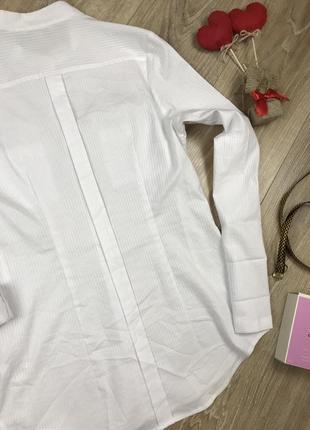 Идеальная белая базовая рубашка с интересной спинкой от next 💔6 фото