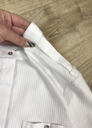 Идеальная белая базовая рубашка с интересной спинкой от next 💔7 фото